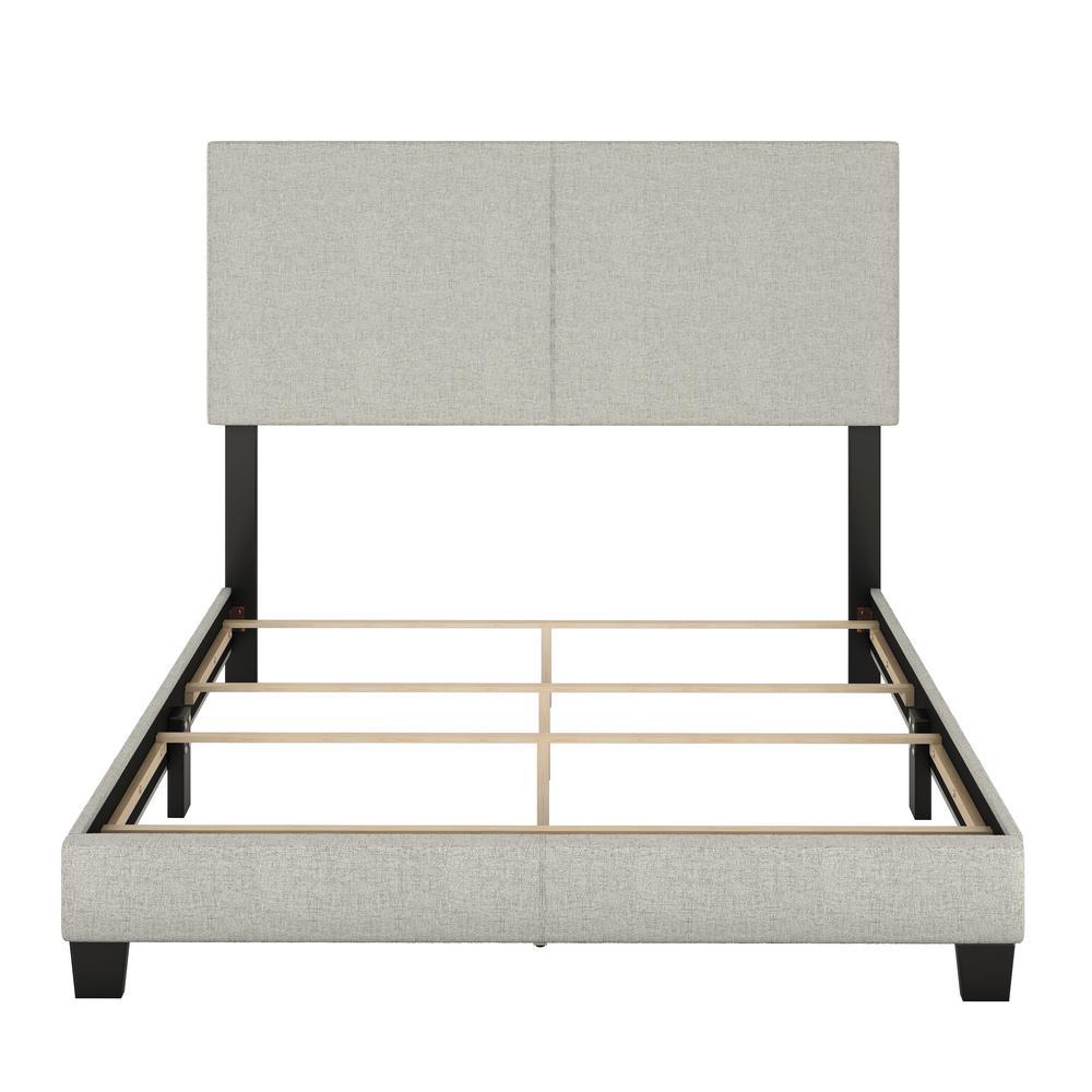 Barrett Twin Cream Linen Upholstered Platform Bed MIL897TW