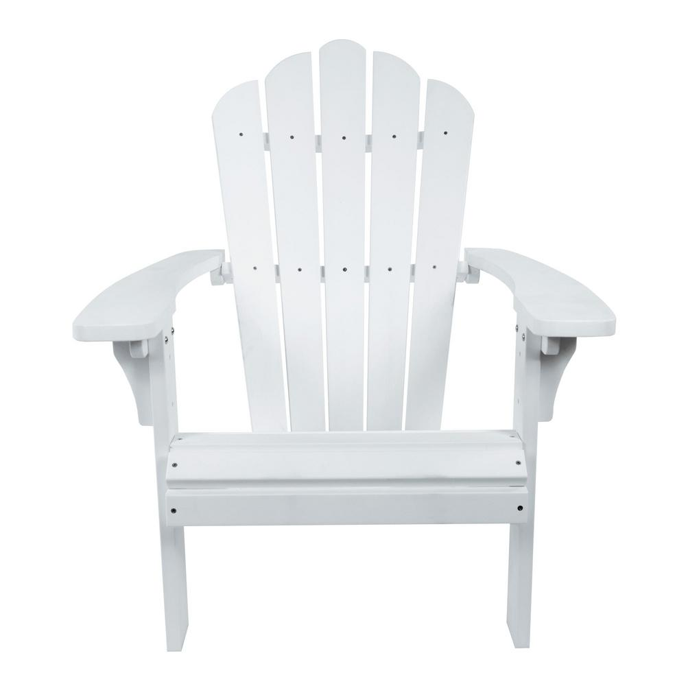 shine company west palm white plastic adirondack chair 7615wt the home depot. Black Bedroom Furniture Sets. Home Design Ideas