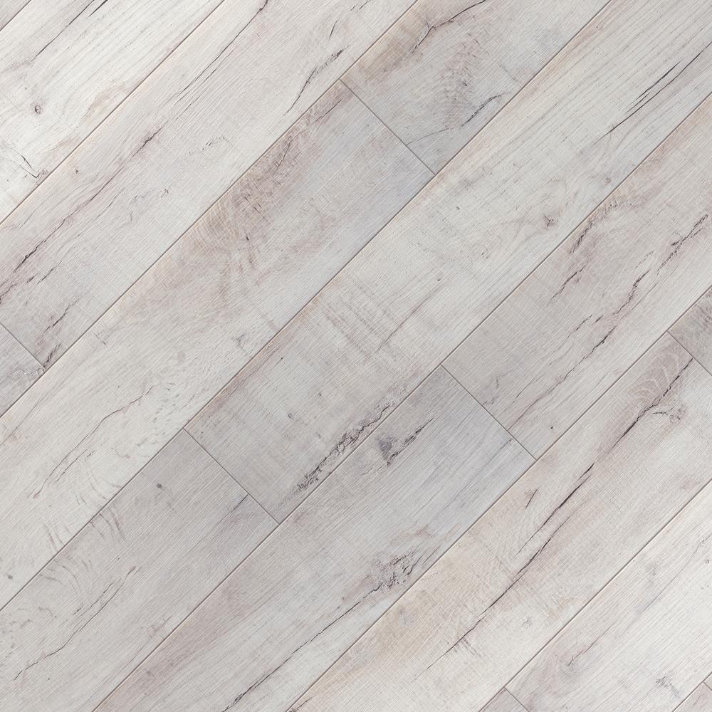 Take Home Sample - Textured Shadow Oak Laminate Flooring - 5 in. x 7 in.