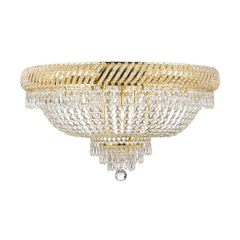 Empire Crystal 9 Light Gold Flush Mount Chandelier T40 653 The
