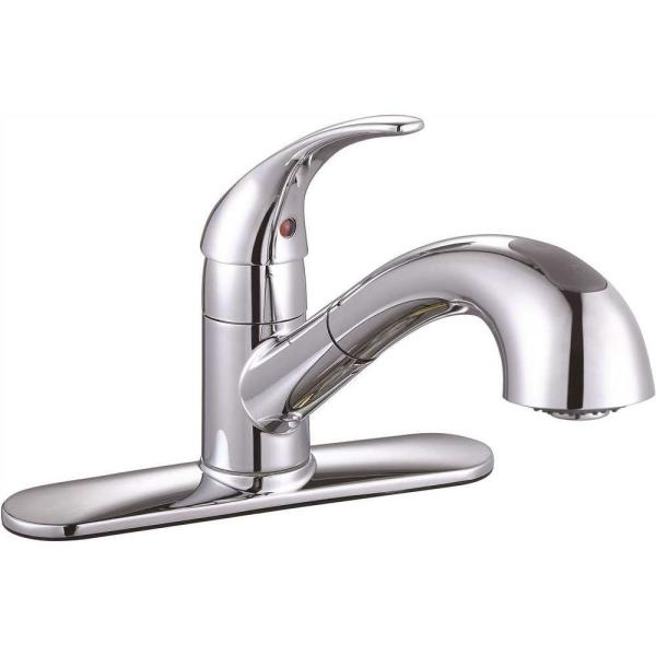 Sanibel Single-Handle Pull-Out Sprayer Kitchen Faucet in Chrome