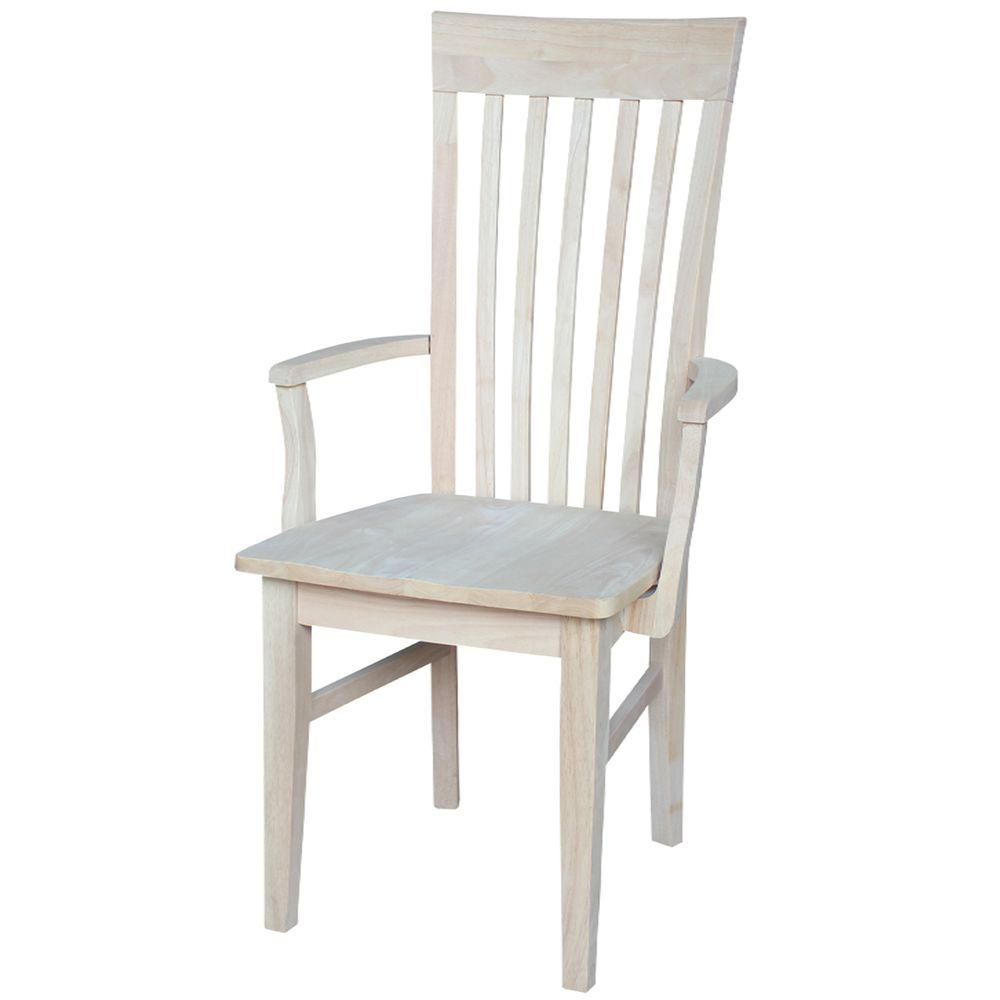 Home Depot Chair: International Concepts Unfinished Wood Mission Dining