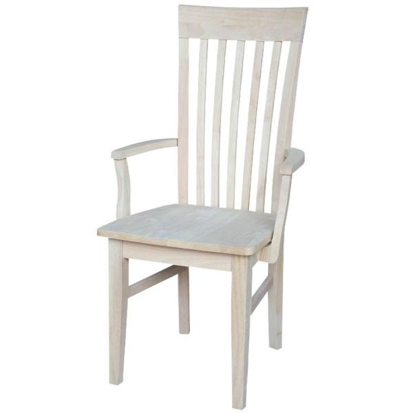 International Concepts Unfinished Wood Mission Dining Chair