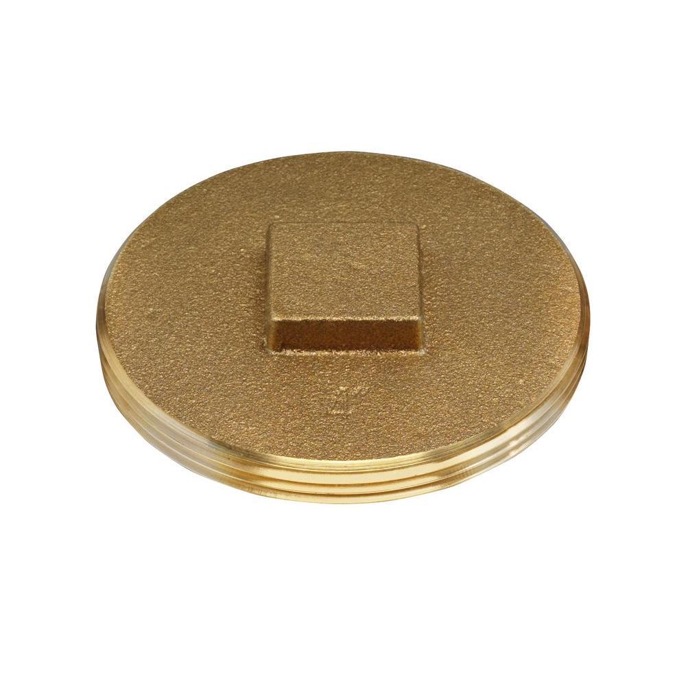 Oatey in brass dwv threaded raised head cleanout plug