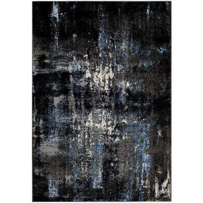 Porcello Gray/Black 5 ft. 1 in. x 7 ft. 6 in. Area Rug