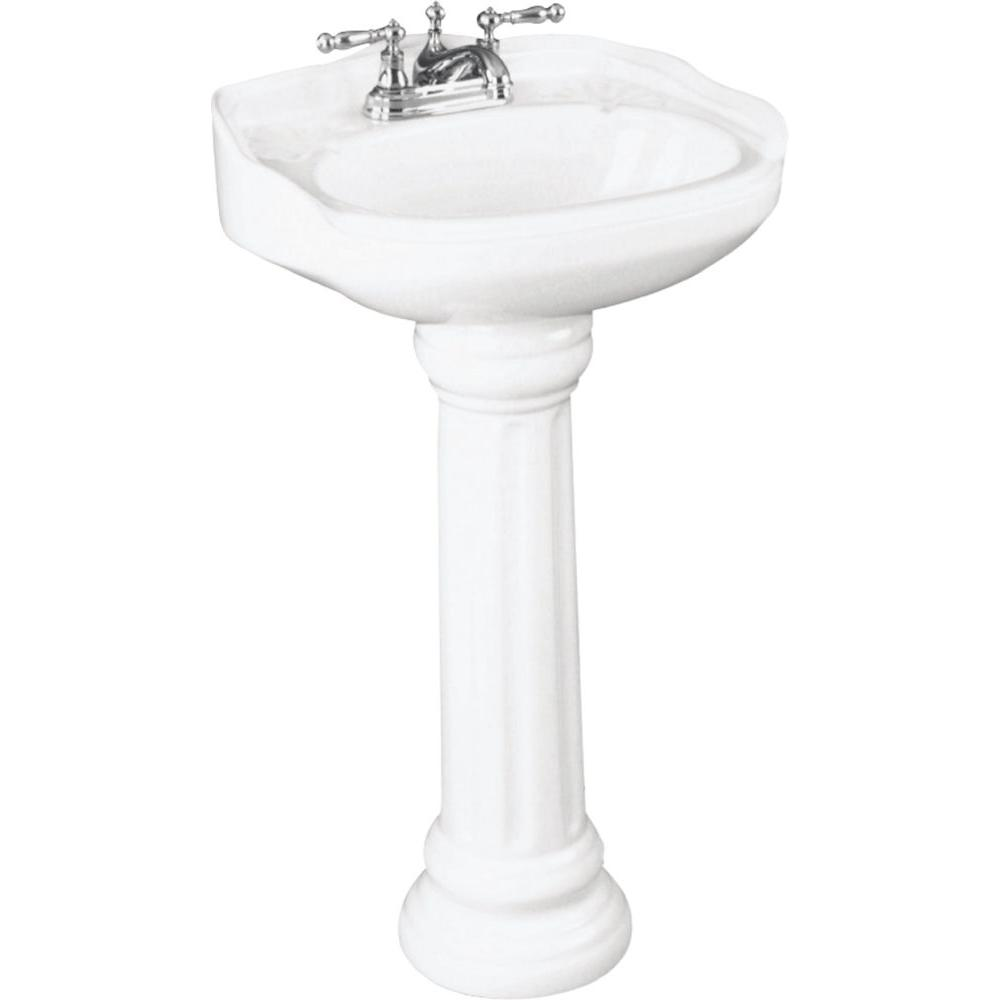 St. Thomas Creations Icera Arlington Petite Pedestal Combo Bathroom Sink In  White