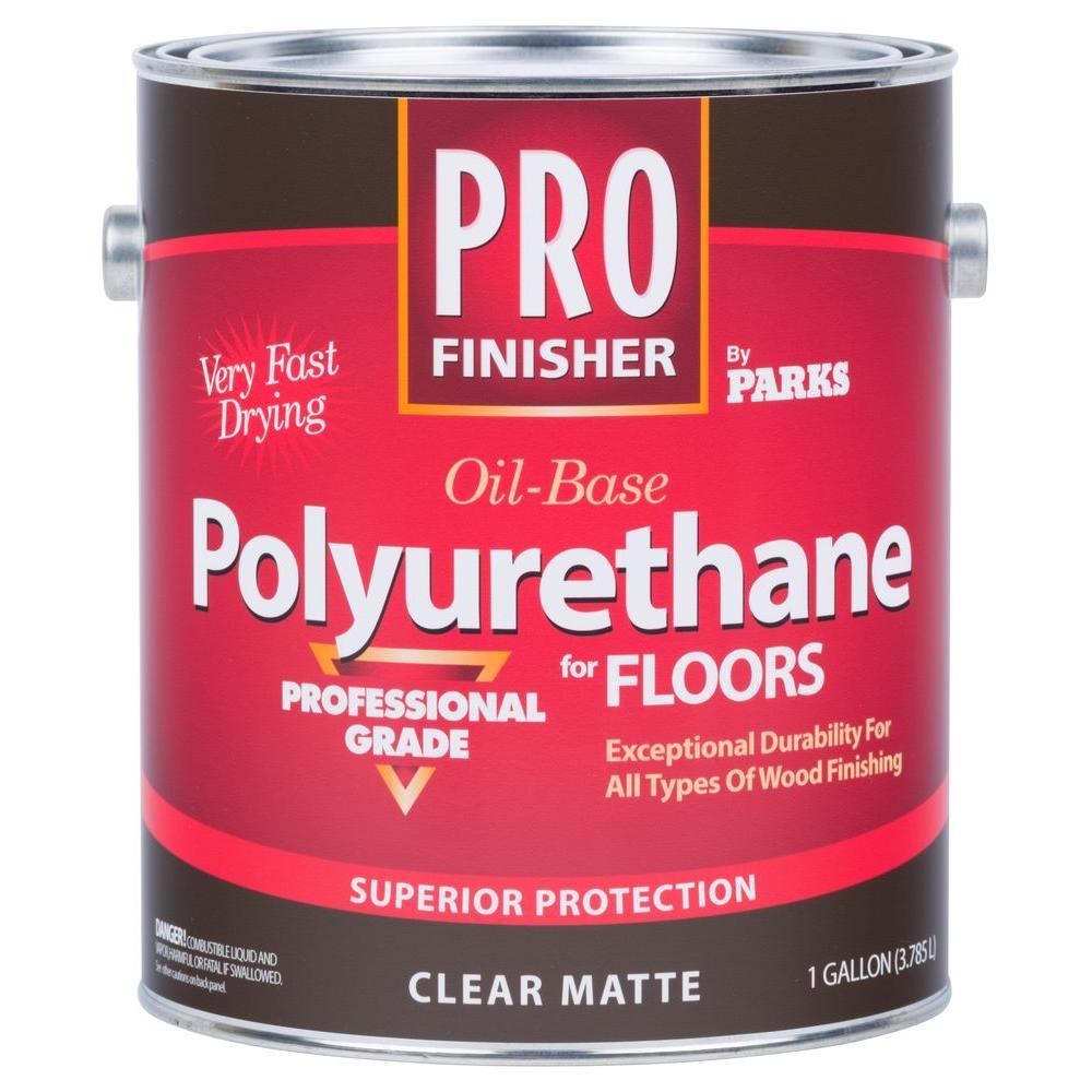 Rust-Oleum Parks Pro Finisher 1 gal. Clear Matte 450 VOC Oil-Based Polyurethane for Floors (4-Pack)
