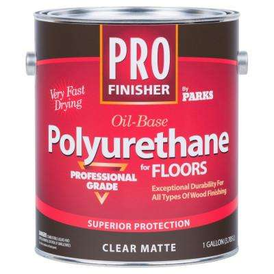 Pro Finisher 1 gal. Clear Matte 450 VOC Oil-Based Polyurethane for Floors (4-Pack)