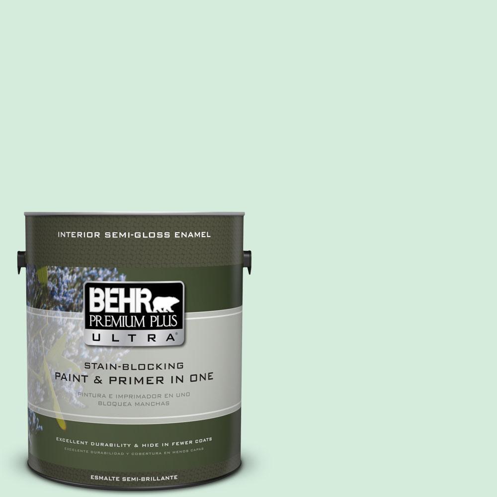1-gal. #470C-2 Winter Fresh Semi-Gloss Enamel Interior Paint