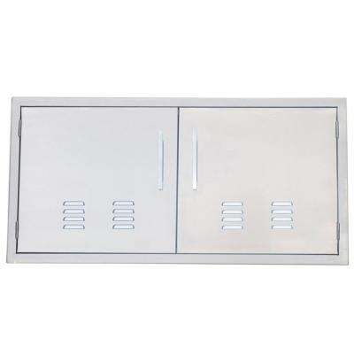 Signature Series 42 in. 304 Stainless Steel Double Access Door with Vents