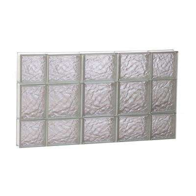 34.75 in. x 19.25 in. x 3.125 in. Ice Pattern Non-Vented Glass Block Window
