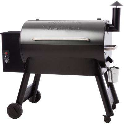 Eastwood Series 34 in. Wood Pellet Grill in Silver Vein