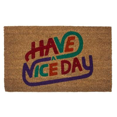 Have a Nice Day Coir 28 in. x 17 in. Door Mat with Backing