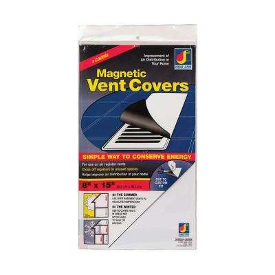 8 in. x 15 in. Magnetic Vent Cover White (3-Pack)