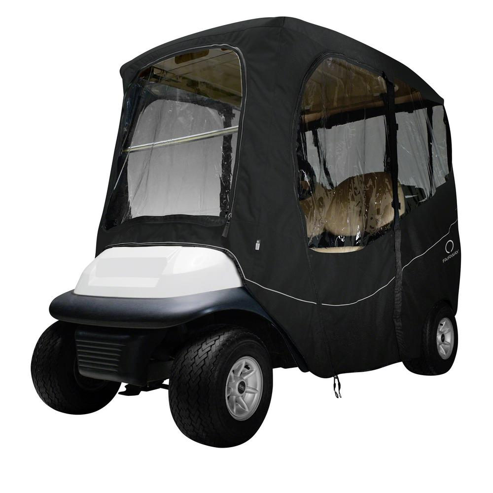 Deluxe Golf Car Enclosure Black Short Roof