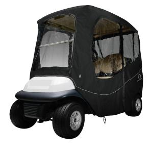 Classic Accessories Deluxe Golf Car Enclosure Black Short Roof by Classic Accessories