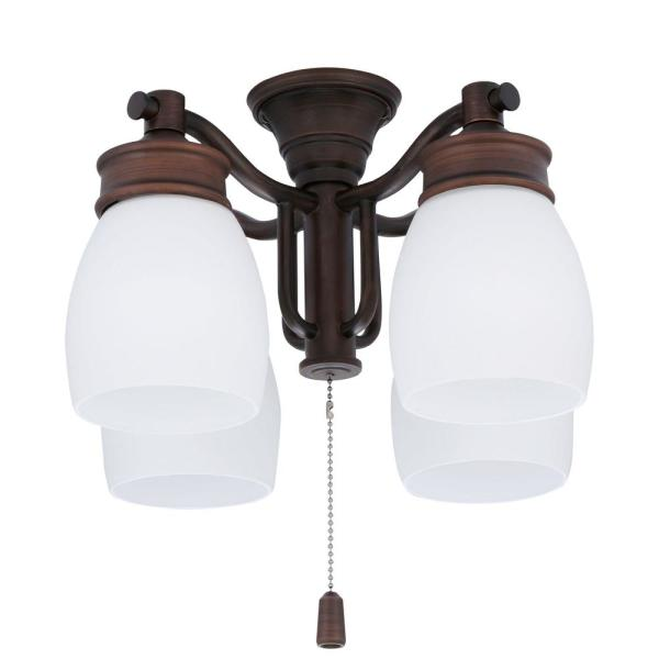 """52/"""" Brush Cocoa 3 Light Indoor//Outdoor Ceiling Fan with Light Kit DISCONTINUED"""