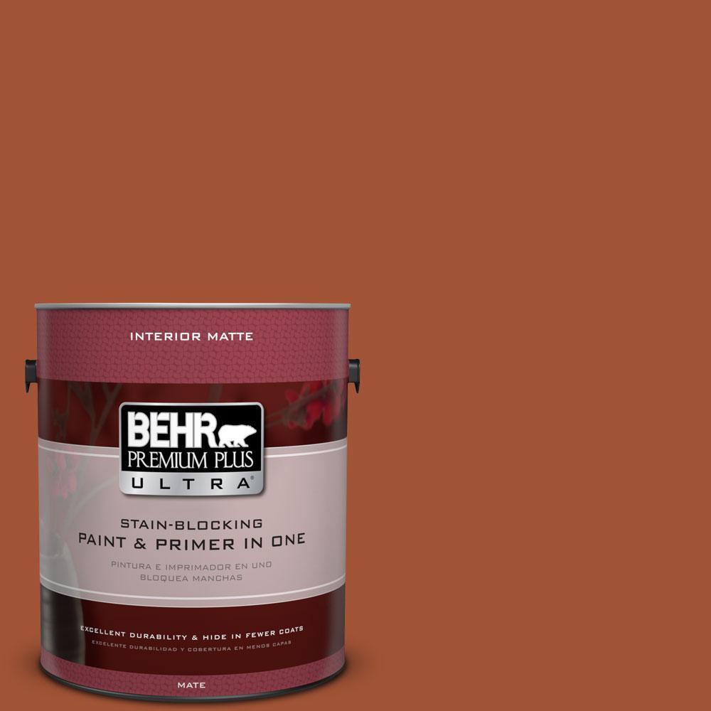 BEHR Premium Plus Ultra 1 gal. #S-H-230 Ground Nutmeg Flat/Matte Interior Paint