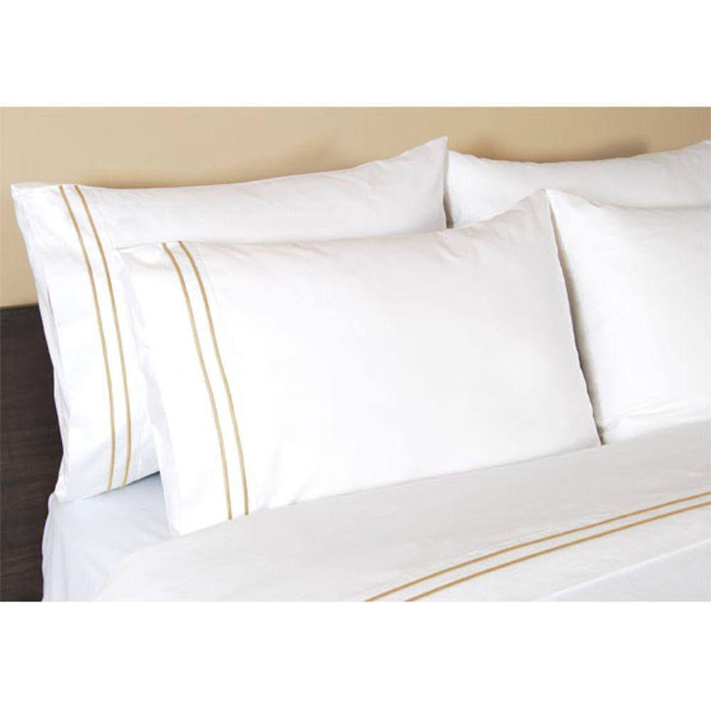 Home Decorators Collection Embroidered Craft Brown Standard Pillowcases