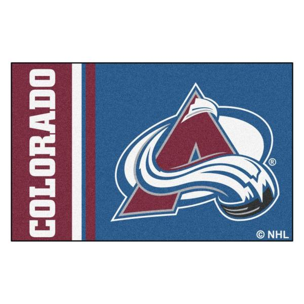 NHL - Colorado Avalanche Blue 2 ft. x 3 ft. Indoor Area Rug