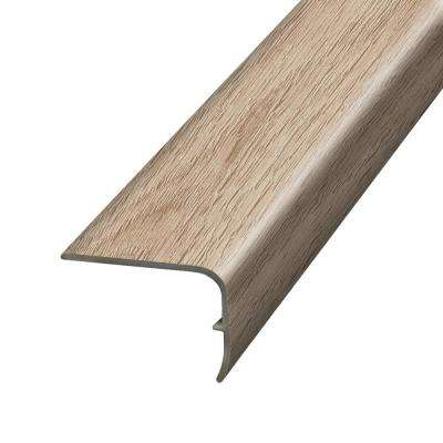Antique Brushed Oak Washed 1.32 in. Thick x 1.88 in. Wide x 78.7 in. Length Vinyl Stairnose Molding