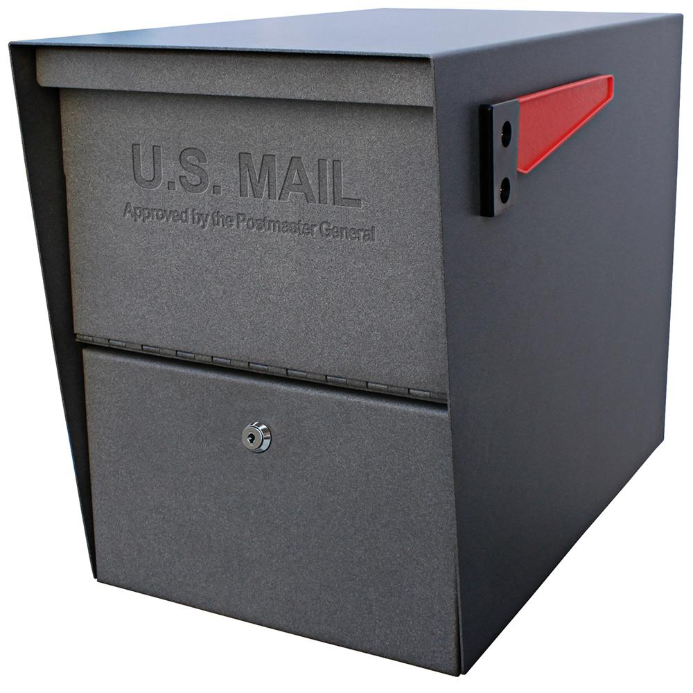 Mail Boss Package Master Locking Post-Mount Mailbox with ...