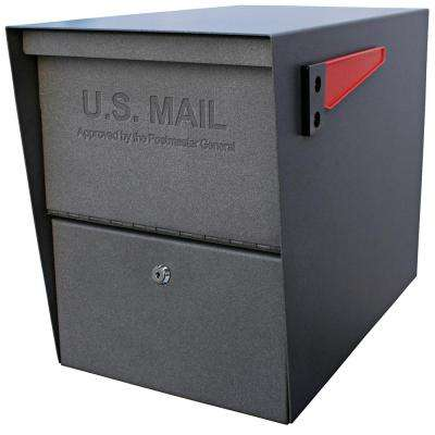Package Master Locking Post-Mount Mailbox with High Security Patented Lock, Granite