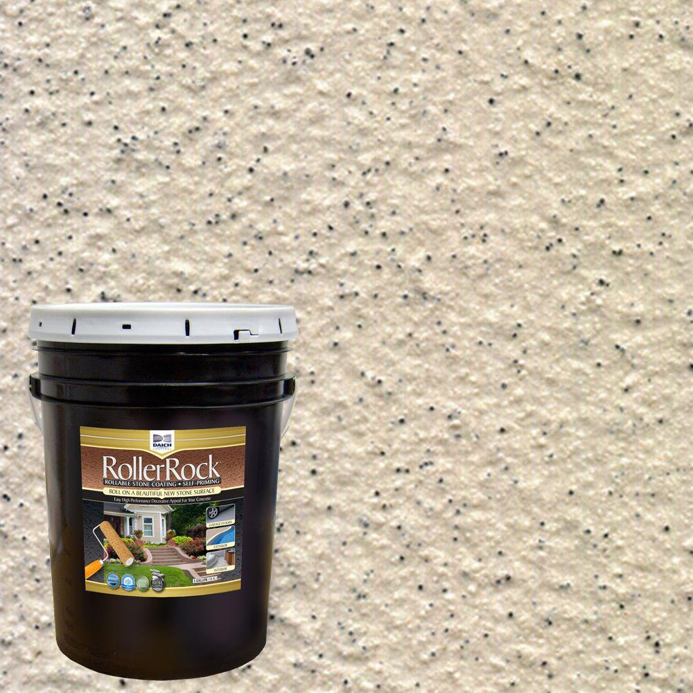 Daich Rollerrock 5 Gal Self Priming Ivory Exterior Concrete Coating Rrpl Iv 189 The Home Depot: exterior concrete floor coatings