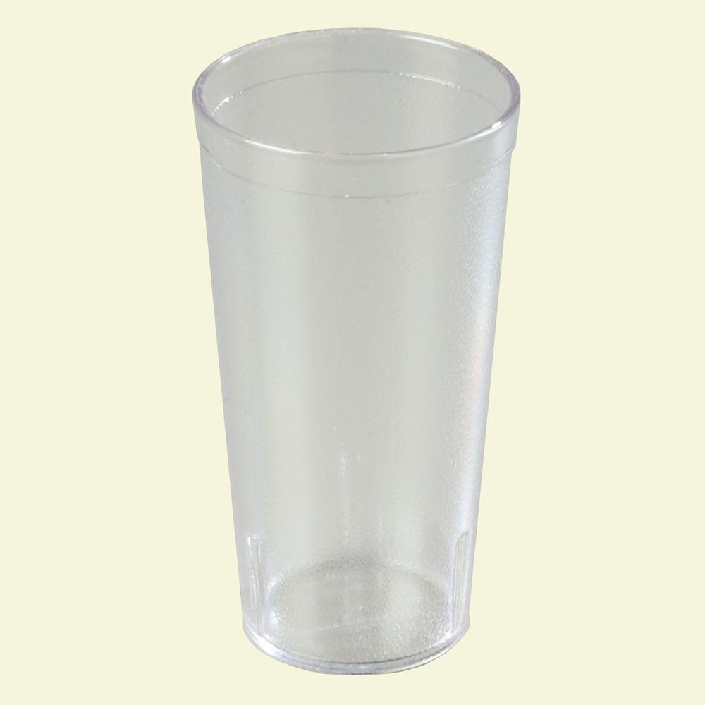Carlisle 20 oz. SAN Plastic Stackable Tumbler in Clear (Case of 24)