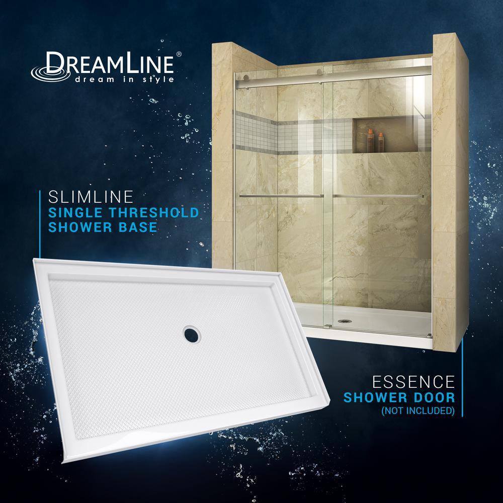 Dreamline Slimline 34 In D X 60 W Single Threshold Shower Base White