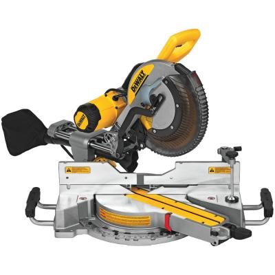 15 Amp Corded 12 in. Double Bevel Sliding Compound Miter Saw, Blade Wrench & Material Clamp