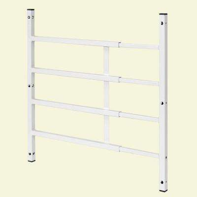 22 in. to 38 in. W x 21-3/8 in. H Steel White Painted Finish Child Fall Window Guard