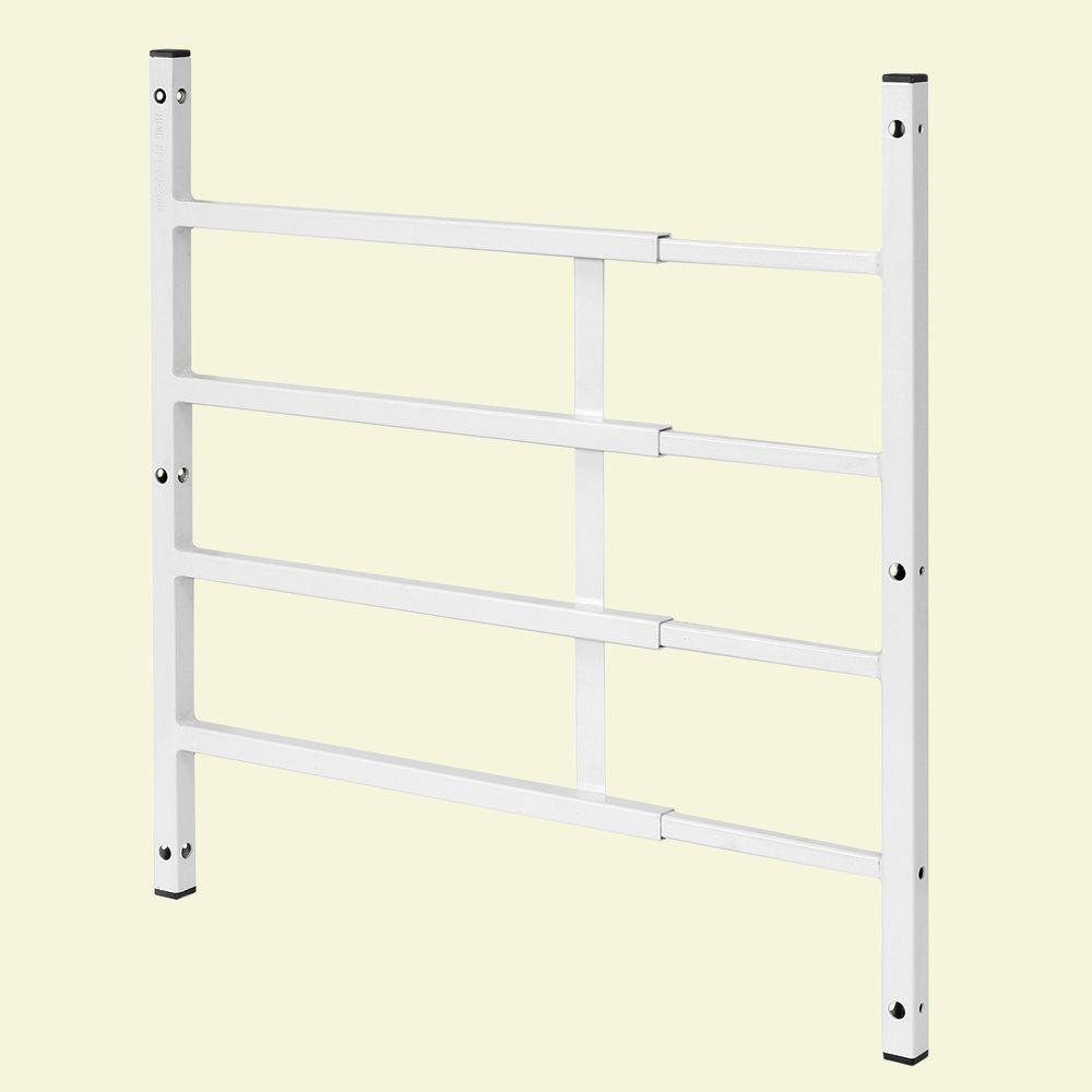 Segal 21 in. Fixed 4-Bar Window Grill (Width Expandable)
