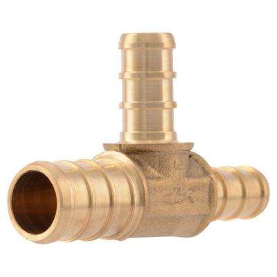 1/2 in. x 3/8 in. x 3/8 in. PEX Barb Brass Reducer Tee Fitting