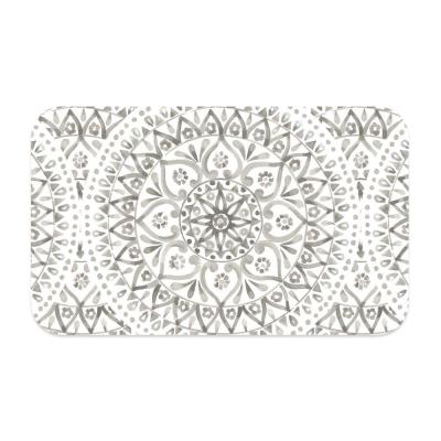 Boho Medallion Pet Placemat in Taupe