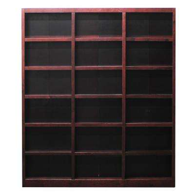 72 x 84 Cherry Finish Wall Storage Unit