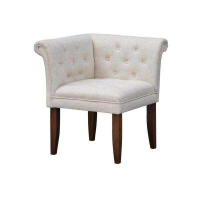 Stanford Brown and Heather Cream Corner Accent Chair