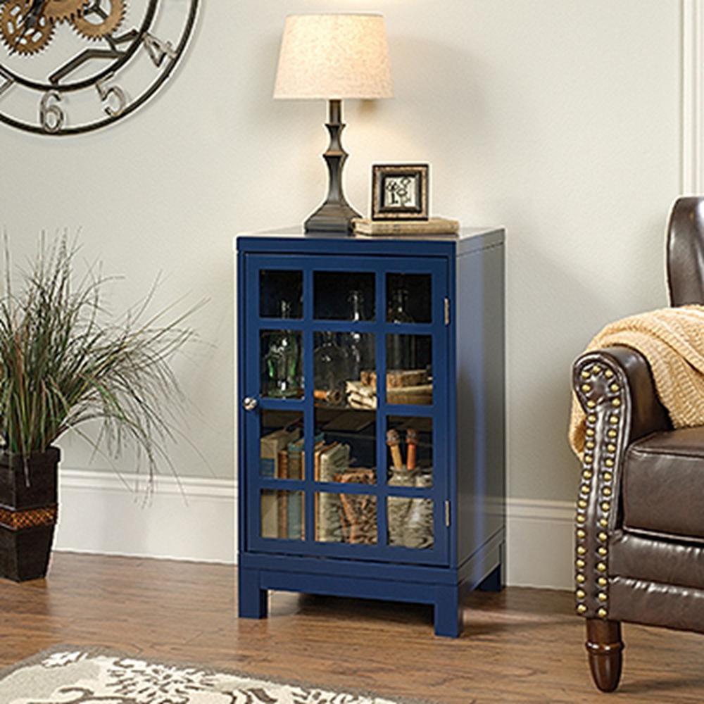 indigo home office. SAUDER Carson Forge Indigo Blue Display Cabinet Home Office O