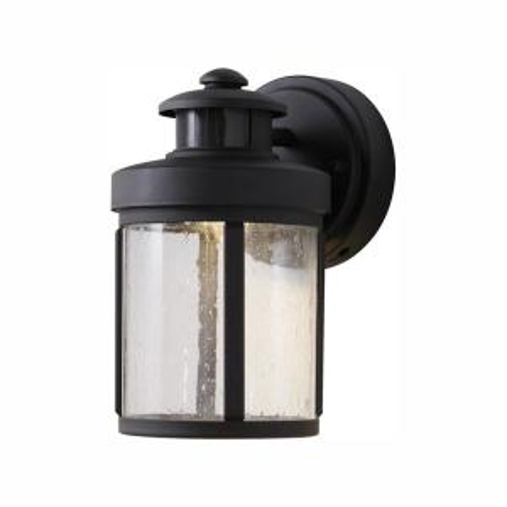 Hampton Bay Black Motion Sensor Outdoor Integrated Led Wall Lantern Sconce Izd1691ls 3 The Home Depot