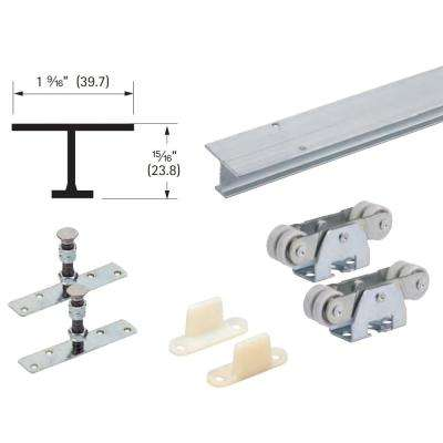96 in. TopLine 71-222 Single Door Hardware and Track