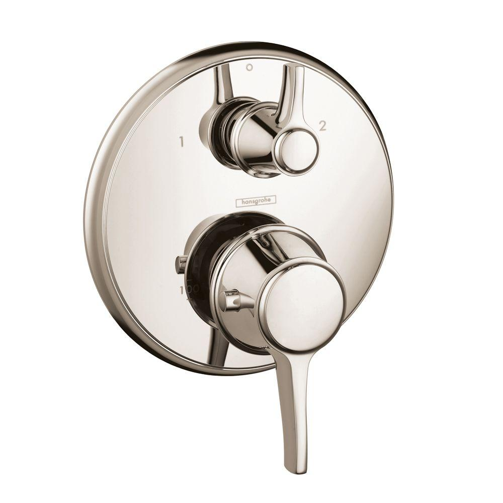 Hansgrohe Metris C 2-Handle Thermostatic Valve Trim Kit with Volume Control in Polished Nickel (Valve Not Included)