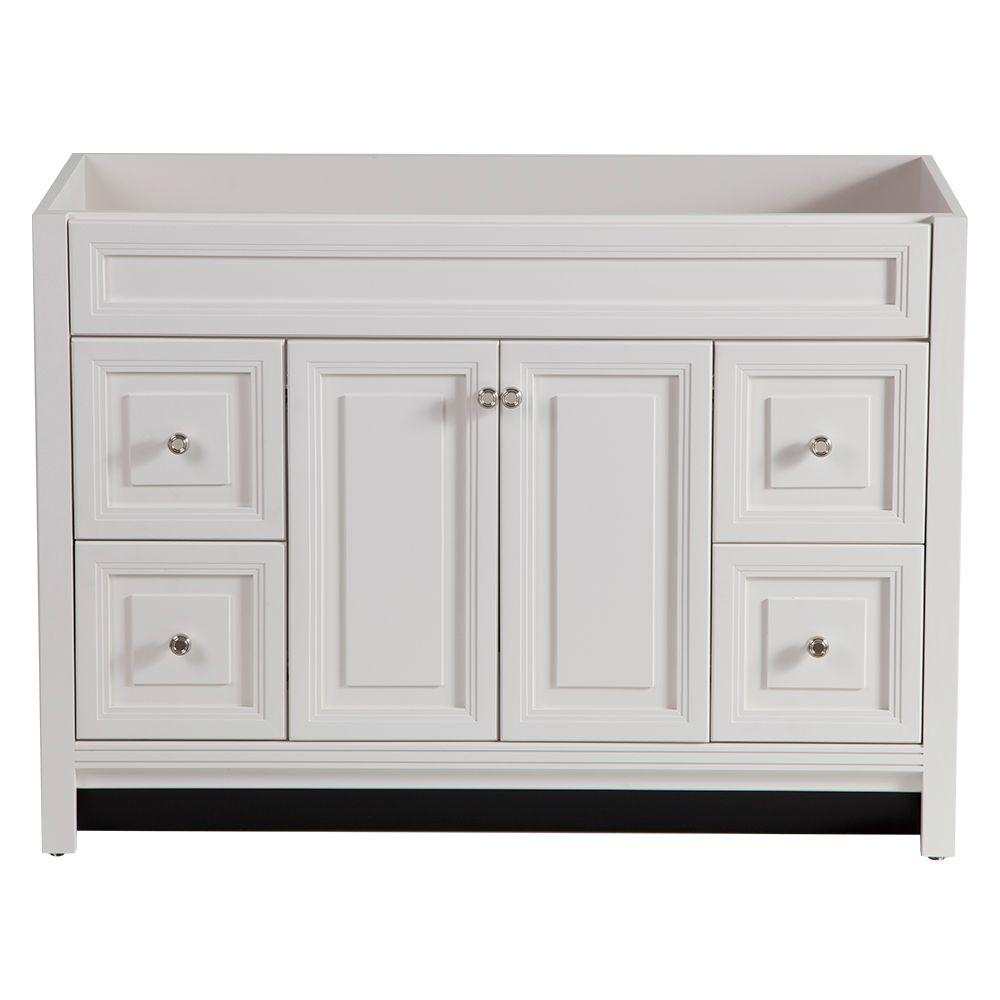 Bathroom vanities without tops at home depot for Home decorators vanity top