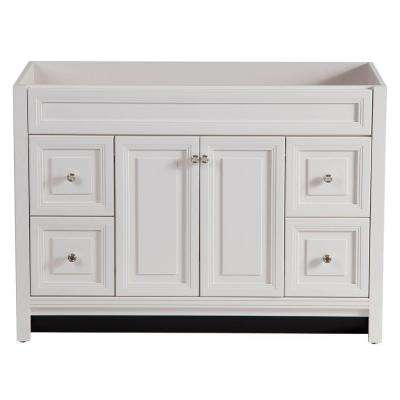 Brinkhill 48 in. W Bath Vanity Cabinet Only in Cream