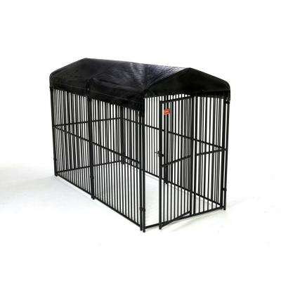 Lucky Dog 6 ft. H x 5 ft. W x 10 ft. L European Style Kennel with Cover