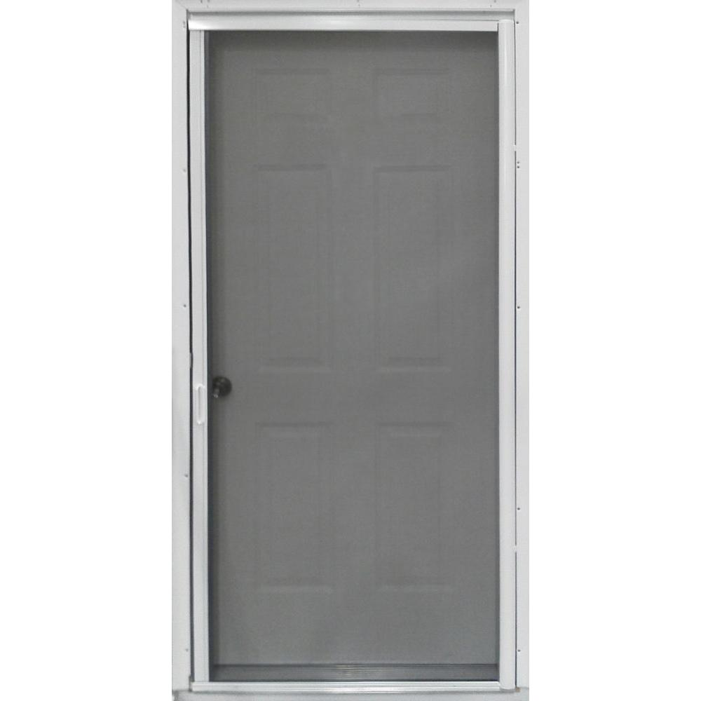 36 In. X 80 In. PR900 White Retractable Screen Door PR00033681   The Home  Depot