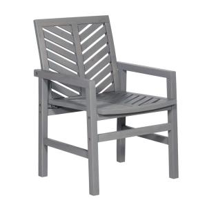Grey Wash Acacia Wood Outdoor Patio Lounge Chair (2-Pack)
