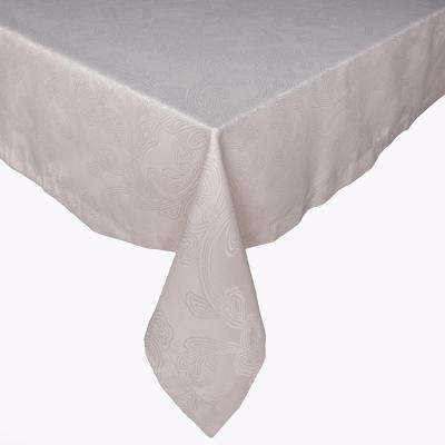 Brooklyn 128 in. Taupe Polyester Table for Rectangular Table