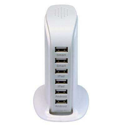 6-Port High Speed USB Charging Station