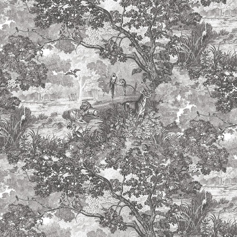 28.29 sq. ft. Jungle Toile Peel and Stick Wallpaper