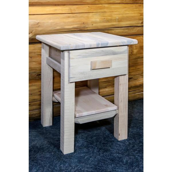 Homestead Collection 1-Drawer Unfinished Wood Nightstand